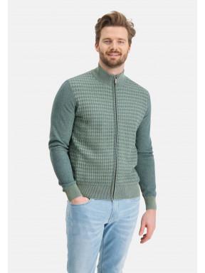 Uni-vest-met-ritssluiting---bladgroen/grijsblauw
