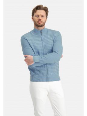 Uni-vest-met-ritssluiting---middenblauw/grijsblauw