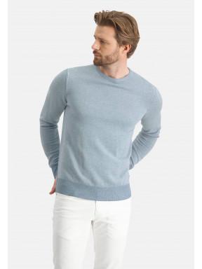Pull-à-encolure-ronde---grey-blue/greige