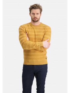 Pull-mouliné-à-encolure-ronde---mango/beige