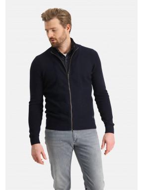 Vest-met-hoge-kraag---donkerblauw-uni
