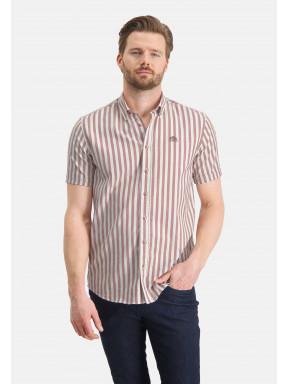 Gestreept-overhemd-met-regular-fit---wit/brique
