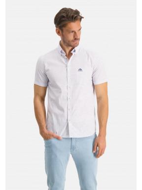 Button-down-overhemd-met-korte-mouw---kobalt/brique