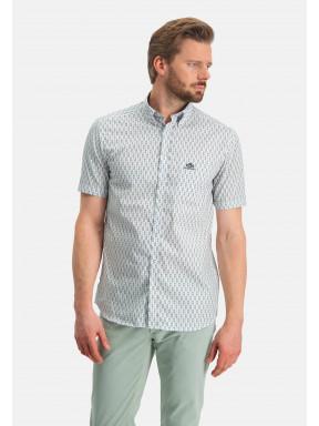 Bedrukt-overhemd---roze/donkergroen