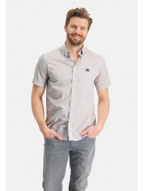 Overhemd-met-regular-fit---brique/zand