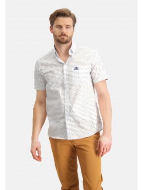 Regular-fit-overhemd-met-print---mango/grijsblauw