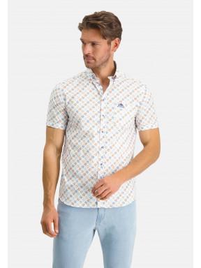 Stretch-overhemd-met-borstzak---mango/kobalt