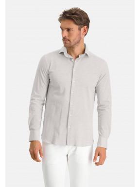 Chemise-à-cut-away---gris-argenté-monochrome