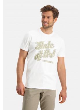 Ronde-hals-T-shirt-uni---wit-uni