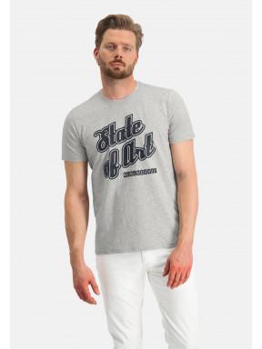Ronde-hals-T-shirt-uni---lichtgrijs-uni