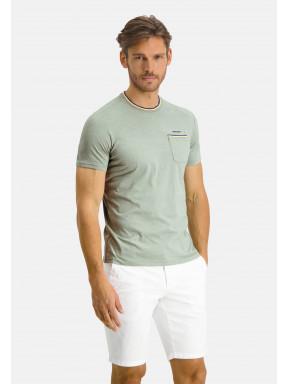 T-shirt-à-poche-poitrine---chlorophylle/sulfureux