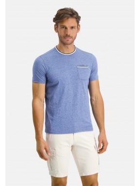 T-shirt-à-poche-poitrine---cobalt/bleu