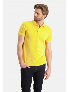 Polo-piqué-á-regular-fit---jaune-clairuni