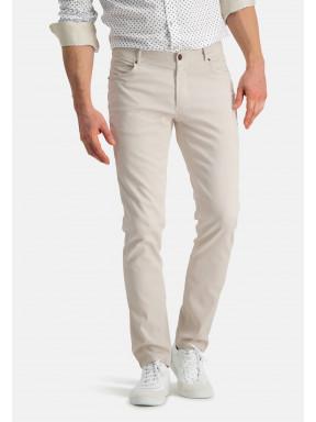 Pantalon-en-velours-côtelé---grège-uni