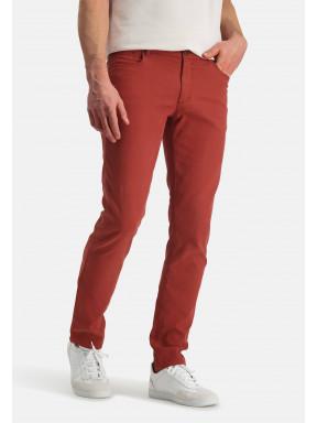 Pantalon-en-velours-côtelé---brique-uni