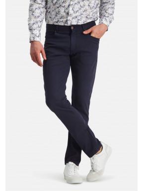 Pantalon-en-velours-côtelé---blue-foncé-uni