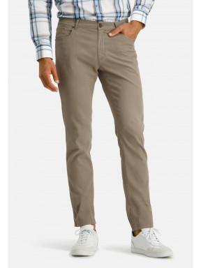 Pantalon-en-velours-côtelé---vert-brun-uni