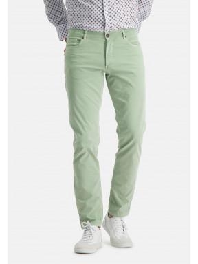 Pantalon-stretch-à-regular-fit---/chlorophylle-uni