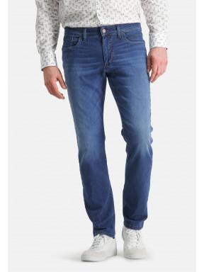 5-Pocket-stretchjeans---kobalt-uni