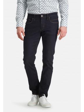 5-Pocket-stretchjeans---donkerblauw-uni