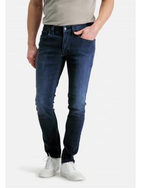 5-Pocket-stretchjeans-met-modern-fit---kobalt-uni