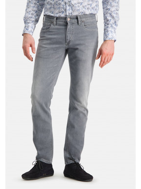 5-Pocket-stretchjeans-met-regular-fit---middengrijs-uni