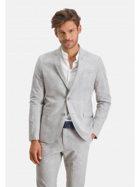 Modern-Classics-blazer-à-carreaux---gris-claire/grège