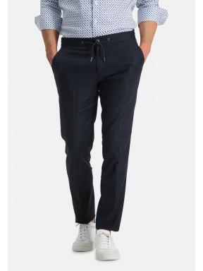 Jogging-pantalon---blue-foncé-uni