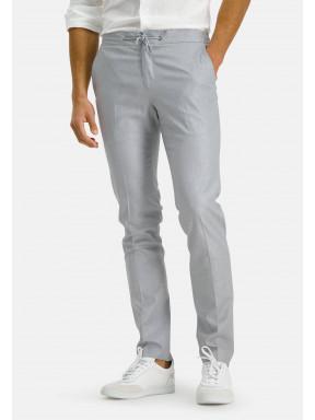 Jogging-pantalon---gris-clair-monochrome