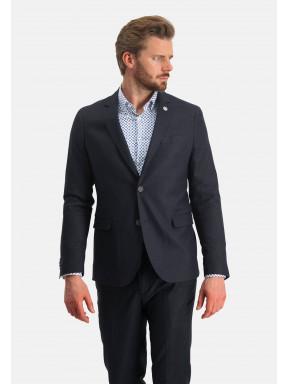 Modern-Classics-blazer-en-lin-mélangé---blue-foncé-uni