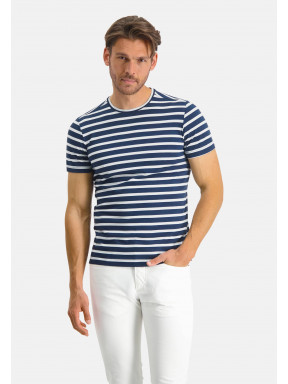 Modern-Classics-T-shirt-met-strepen---donkerblauw/wit