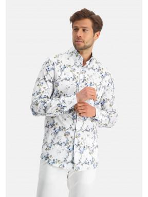 Modern-Classics-overhemd-met-print---lichtblauw/kobalt