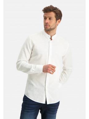 Modern-Classics-overhemd-van-een-linnen-mix---wit-uni