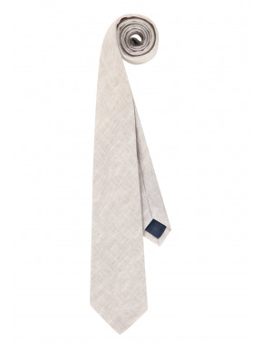 Cravate-en-coton,-Passant-et-doublure---grège-uni