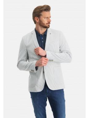 Gestreepte-blazer-met-modern-fit---wit/kobalt