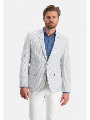 Blazer-met-2-knoopssluiting---wit/grijsblauw