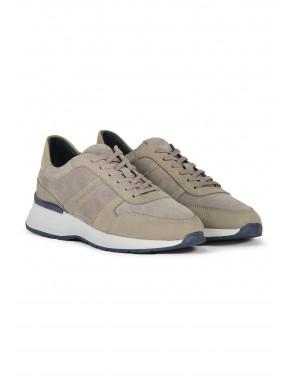 Sneaker-van-suède-en-leer---zand-uni
