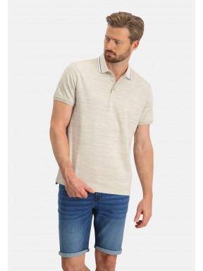 Polo-met-een-contrasterende-kraag---wit/kit