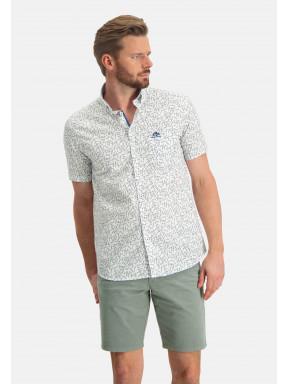 Overhemd-met-een-botanische-print---wit/mosgroen