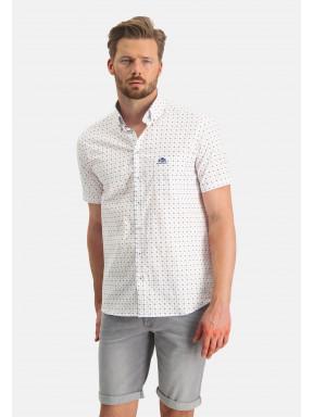 Overhemd-met-merklogo---wit/roze