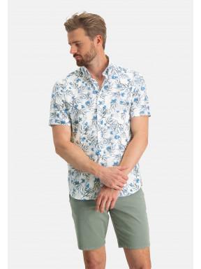Overhemd-met-een-digitale-print---wit/kobalt