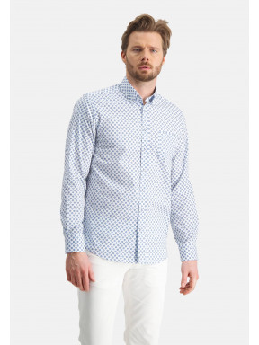 Regular-fit-overhemd-met-print