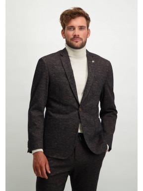 Modern-fit-blazer-van-een-wol-mix---donkerantraciet/zilvergrijs