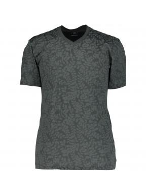 T-shirt-col-en-V-imprimé