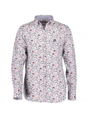 Chemise-popeline-à-imprimé-fleuri