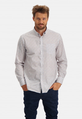 Katoenen-overhemd-met-borstzak