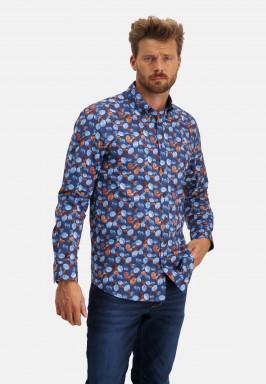 Button-down-overhemd-met-print
