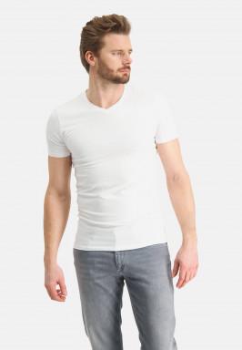 V-hals-T-shirt-uni