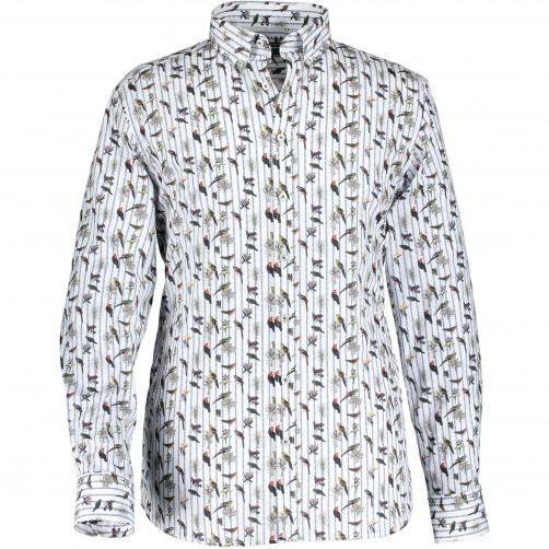 Chemise-à-imprimé-oiseau