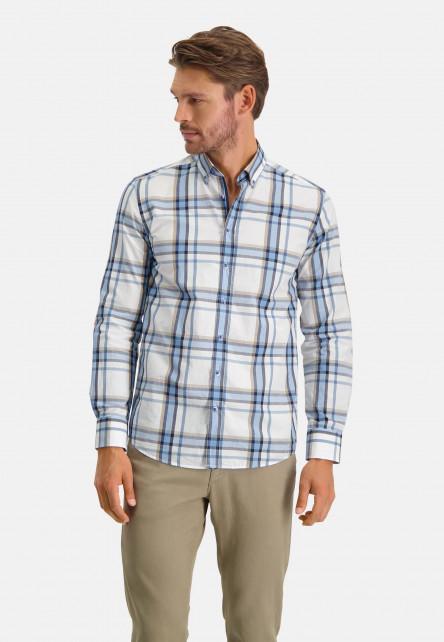 Chemise-à-carreaux---cobalt/sablé